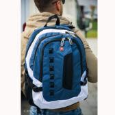 Kék színű laptoptartós nagy méretű Swisswin hátizsák sw8302