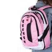 Swisswin nagy méretű hátizsák Rózsaszín laptoptartós sw8302 pink