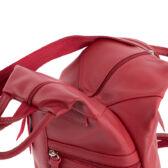 Valódi bőr női hátizsák sötétpiros színben