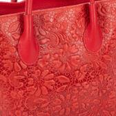 Valódi bőr női táska bordó színben