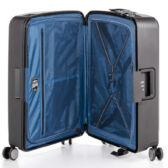 Bon Voyage Törhetelen Cipzár nélküli Spinner 3 db-os bőrönd szett Zöld