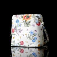 Valódi bőr virágos női táska