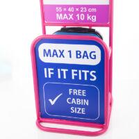 FENIX Bőrönd kabin méret ÚJ WIZZAIR RYANAIR méret levehető kerékkel