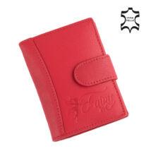 Fairy valódi bőr piros női kártyatartó,,