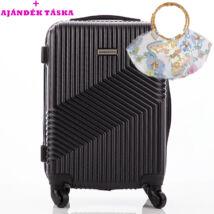 LEONARDO DA VINCI Bőrönd kabin méret ÚJ WIZZAIR méret + ajándék táska AKCIÓ
