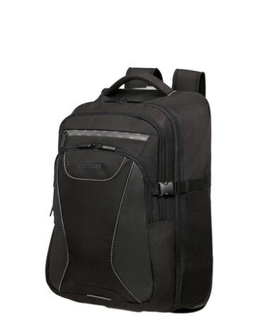 """American Tourister AT WORK LAPT. BP/WH 15.6"""" REFLECT BLACK"""