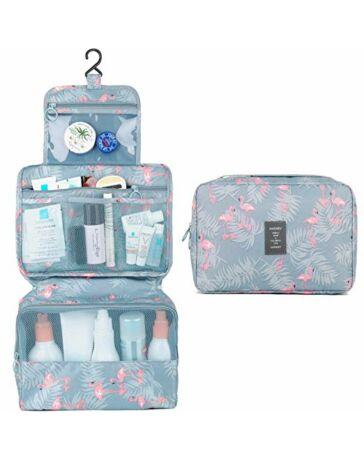 Felakasztható Kozmetikai táska flamingó mintával*