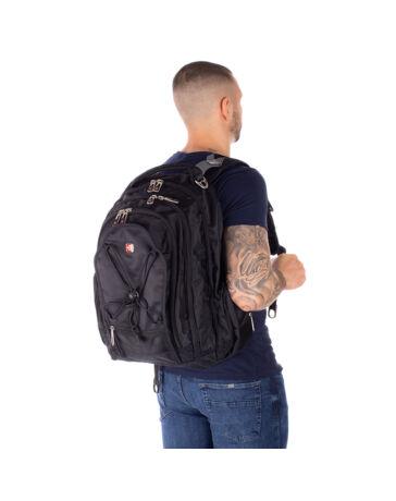 Swisswin ultrerős nagyméretű hátizsák sw9705 fekete AIR FLOW szellőző rendszerrel