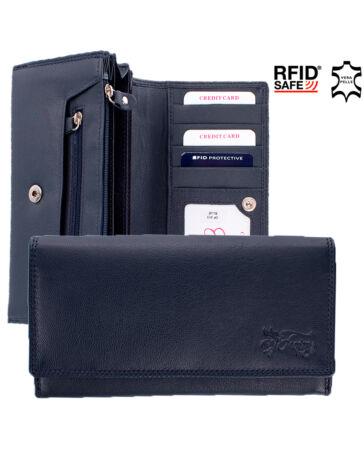 Fairy valódi bőr pénztárca kék színben RFID rendszerrel díszdobozban