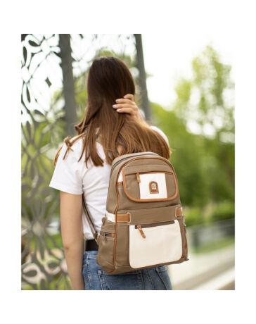 Laurence Női hátizsák bézs színben Y1404A