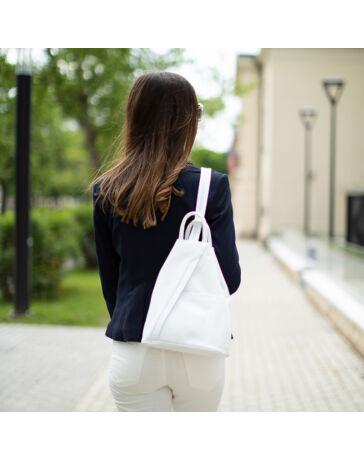 Valódi bőr női hátizsák Fehér színben S6925