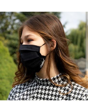 Textil Szájmaszk fekete színű női