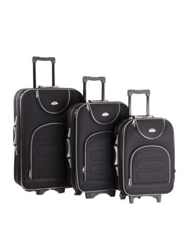3 db-os bőrönd szett fekete színben 801-black