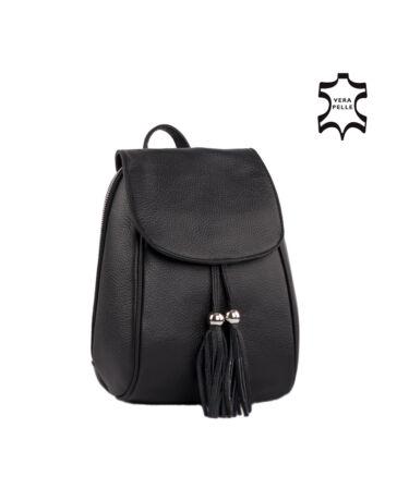 Valódi bőr női hátizsák Fekete színben S1288