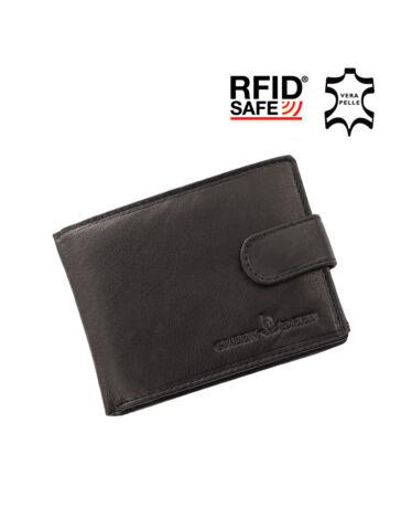 GREEN DEED valódi bőr kisméretű férfi pénztárca díszdobozban RFID védelemmel