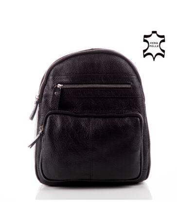GIULIO COLLECTION Valódi bőr hátizsák  . Fekete 6854dd93a1