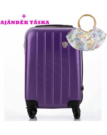 FENIX Bőrönd kabin méret ÚJ WIZZAIR RYANAIR méret levehető kerékkel+ ajándék táska AKCIÓ