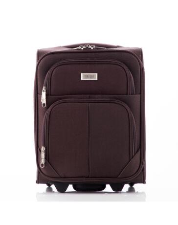 Kis méretű kabinbőrönd barna színben