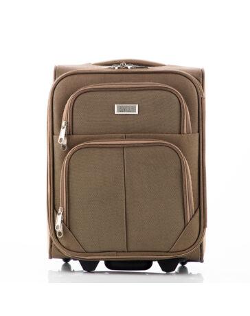 Kis méretű kabinbőrönd camel színben