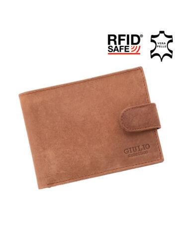 GIULIO valódi koptatott bőr férfi pénztárca díszdobozban RFID rendszerrel ( 8 kártyatartó ),,