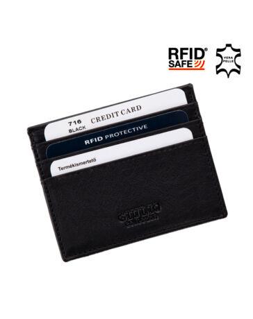 GIULIO Valódi bőr kártyatartó RFID Védelemmel*
