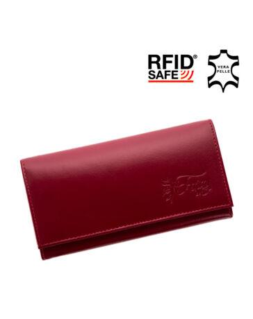 Fairy valódi bőr bordó női pénztárca díszdobozban RFID védelemmel