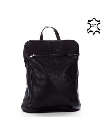 Valódi bőr női hátizsák Ipad tartóval fekete színben