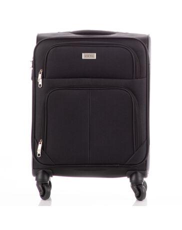Bőrönd kabin méret 214 Fekete színben RYANAIR ÚJ WIZZAIR méret