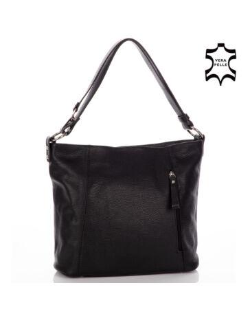 Valódi bőr női táska fekete színben*