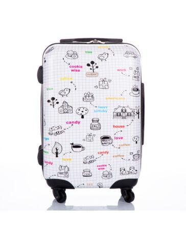 GOLD STATE mintás bőrönd kabin méret