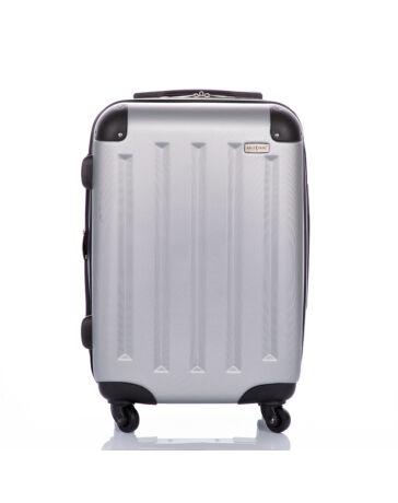 GOLD STATE Ezüst bőrönd kabin méret bővíthető változat