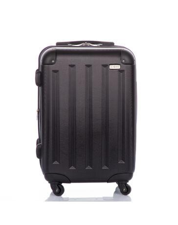 GOLD STATE Fekete bőrönd kabin méret bővíthető változat