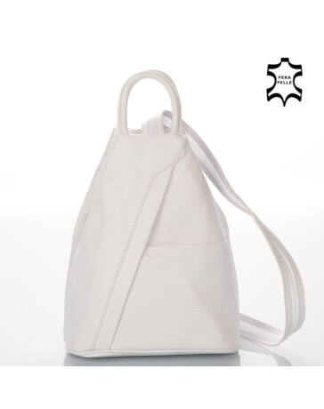 Valódi bőr női hátizsák Fehér színben S6925*