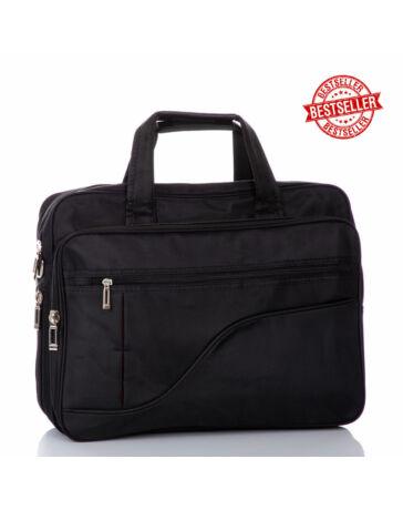 Fekete üzleti táska laptoptartóval bővíthető L méret