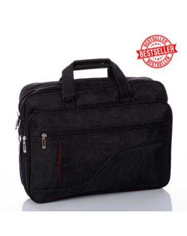 Fekete üzleti táska laptoptartóval bővíthető M méret