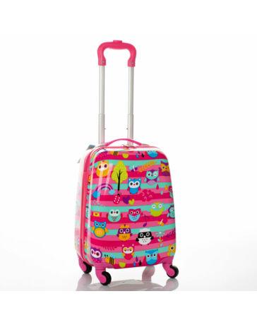 Gyermek bőrönd BAGOLY mintával