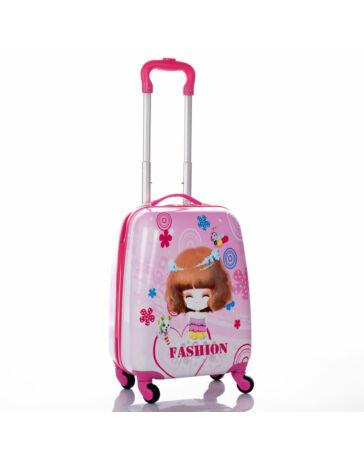 Gyermek bőrönd kislány mintával