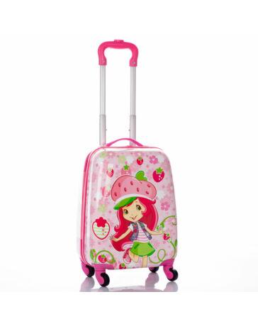Gyermek bőrönd szamóca mintával