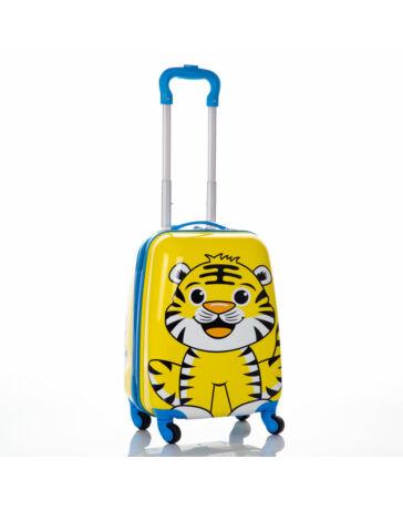 ABS gyermekbőrönd Tigris mintával