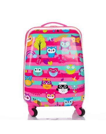 Gyermek bőrönd BAGOLY mintával AKCIÓS