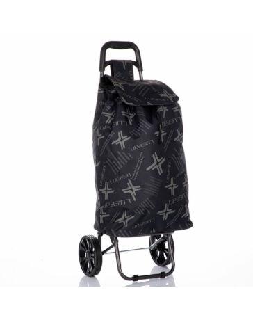 LUISPAN gurulós bevásárlókocsi fekete színben