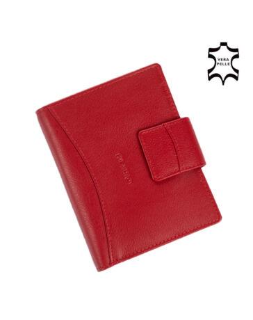 Rialto valódi bőr pénztárca díszdobozban piros színben