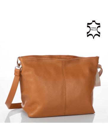 Valódi bőr női táska őzbarna színben