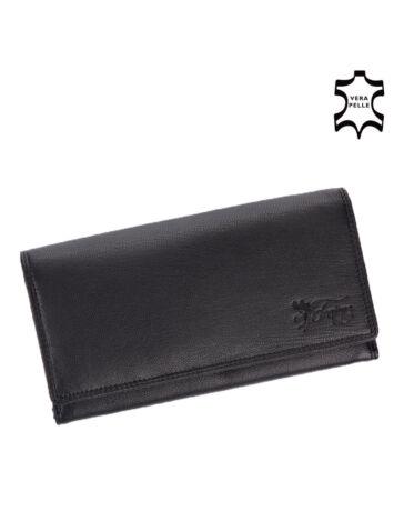 Fairy valódi bőr pénztárca fekete színben RFID rendszerrel díszdobozban