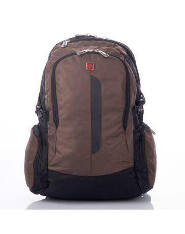 Swisswin hátizsák laptoptartós barna színben 8351