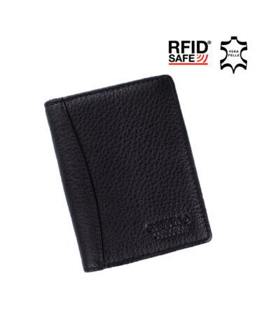 GIULIO COLLECTION valódi bőr kártyatartó RFID rendszerrel