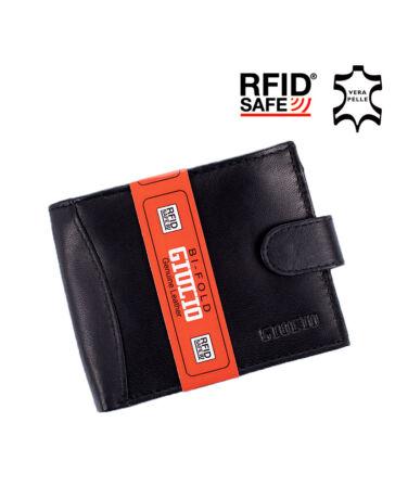 GIULIO valódi bőr férfi pénztárca RFID rendszerrel díszdobozban