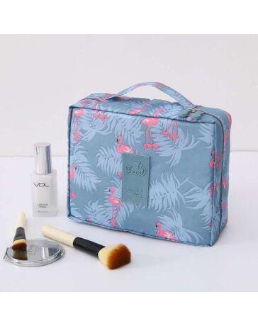 Kozmetikai táska Flamingó mintával