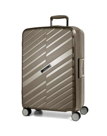 Bon Voyage Törhetelen Cipzár nélküli Spinner bőrönd L Bronz