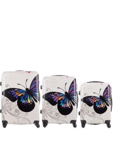 9792e517610f Bőrönd szett 3 részes-White Butterfly